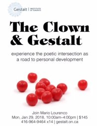 Upcoming Workshop: The Clown and Gestalt Therapy